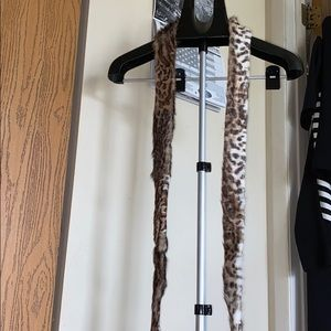 Real fur belt